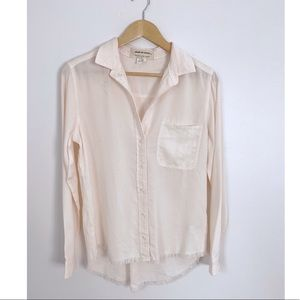 Anthropologie Cloth & Stone Frayed Button Down